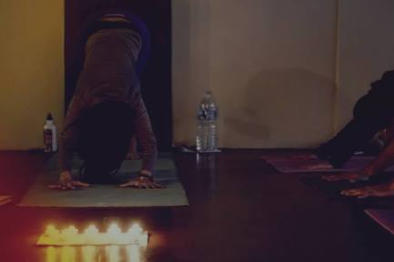 Candle light yoga
