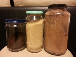 Wash and reuse glass jars after use. This way, you can store dry goods like coffee and sugar in glass rather than the original plastic.