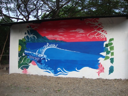 Mural at the school.