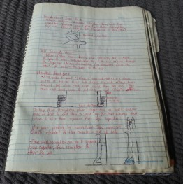 My notebook, complete with sketches.