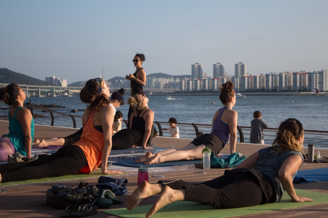 Sunset Yoga at Gwangan.