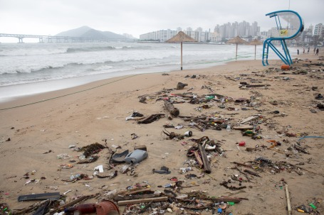 Gwangan Beach Trash