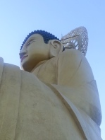 Massive bronze Buddha statue.