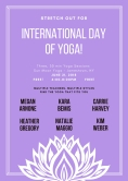 Violet Lotus International Day of Yoga Poster
