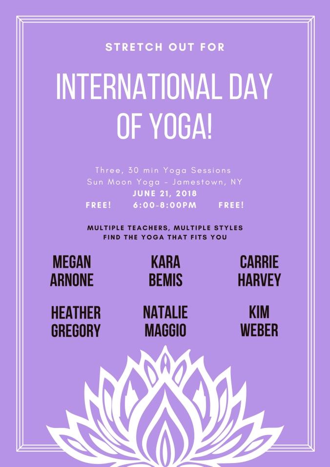 Violet Lotus International Day of Yoga Poster