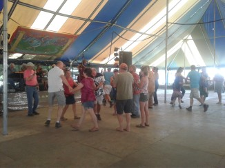 Square dance lessons to bluegrass on Sunday.